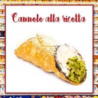 Cannoli siciliani con ricotta espressa
